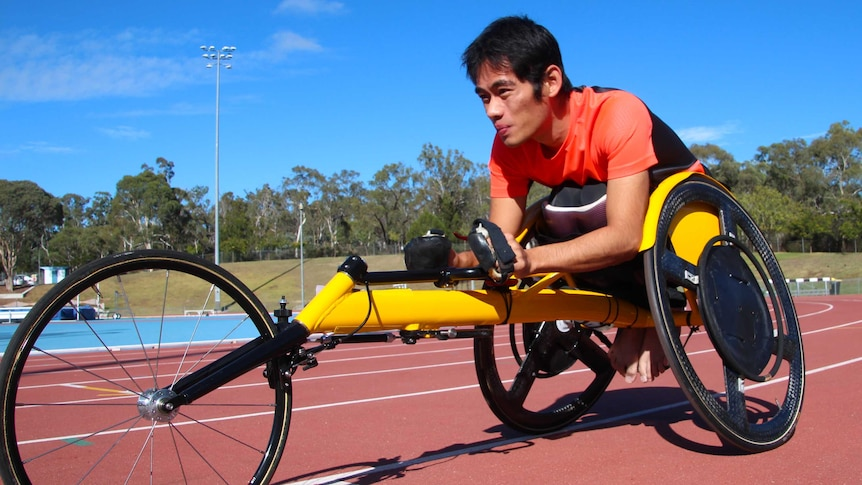 Spinal cord injury patient and wheelchair racer Jonathan Tang.