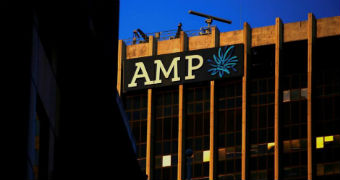 AMP sign on headquarters building