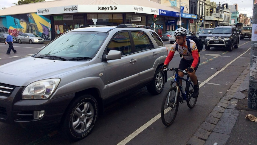 Sydney Road in Brunswick is one of Melbourne's most dangerous roads for cyclists.