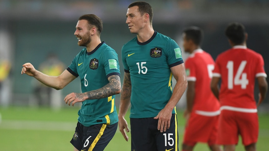 Socceroos comfortably account for Nepal, cruise into next phase of World Cup qualification