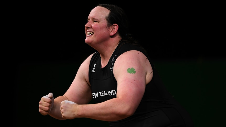 NZ weightlifter Laurel Hubbard at the Commonwealth Games