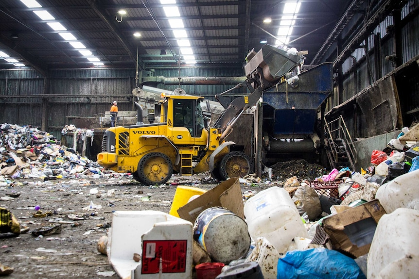A rubbish dump