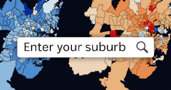 A map shows metropolitan regions with colours used to highlight different districts.