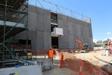 The National Archives of Australia's new $64 million storage facility under construction.
