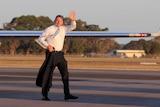 Tony Abbott at Mount Gambier Airport