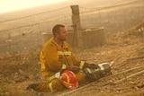 Firefighter volunteer during Black Saturday